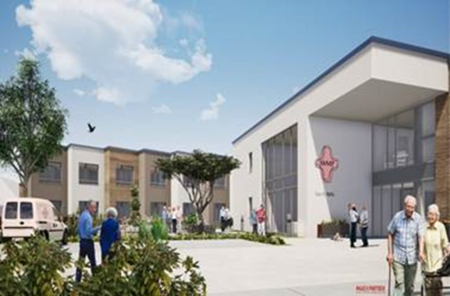 So soll der zweigeschossige Neubau des Hauses St. Martin aussehen. Grafik: Maas & Partner