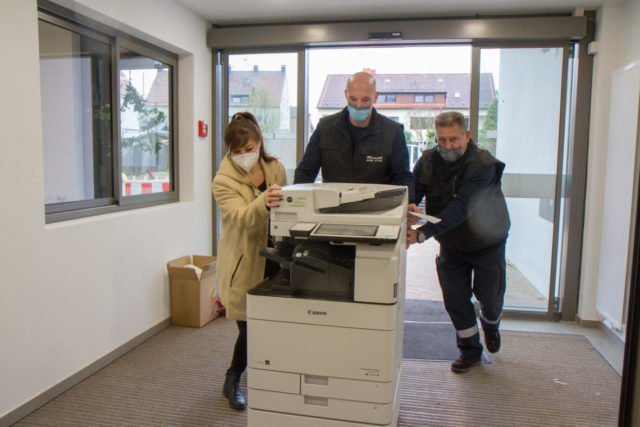 Der Einzug des Kopierers. (Foto: SMMP/Bock)